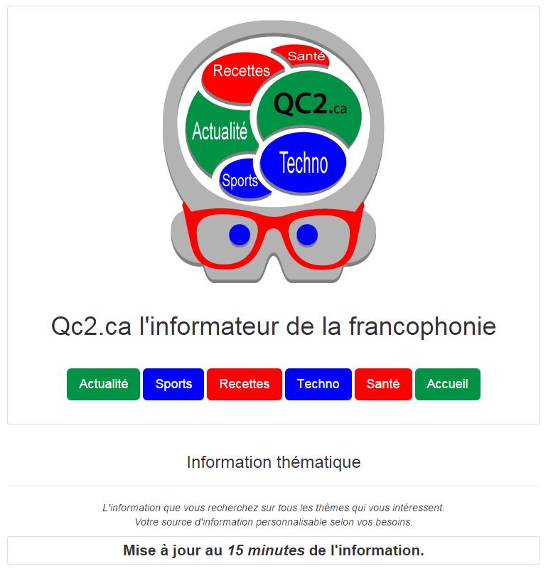 Qc2.ca l'informateur de la francophonie